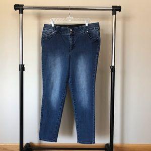Lane Bryant Women's Size 20 Dark Wash Skinny Jeans